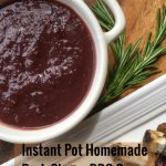 Instant Pot Dark Cherry BBQ Sauce